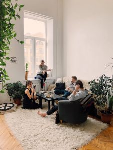Article Image of friends and family having evening chat
